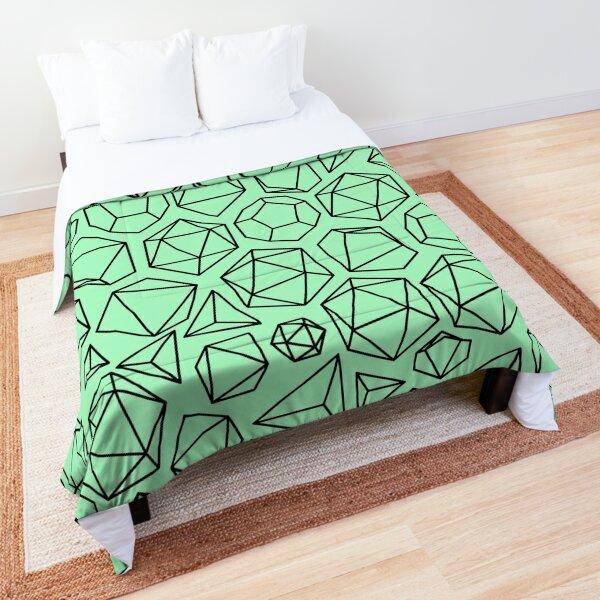 Pastel Green Dice Pattern Comforter