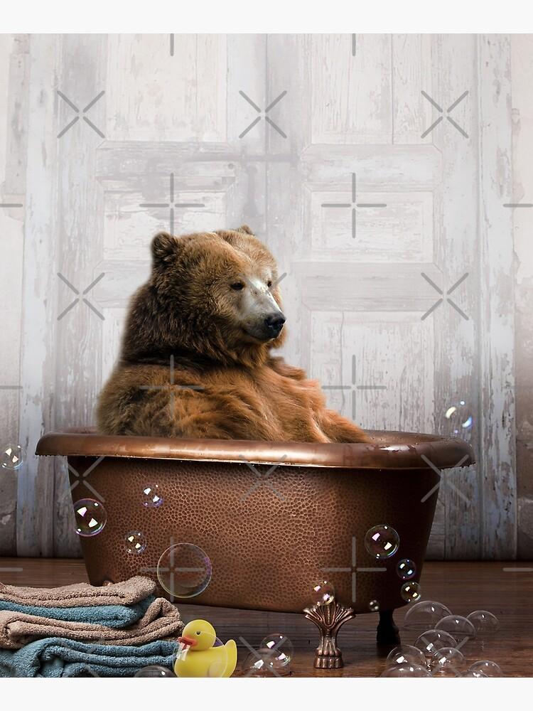 Bear in Bathtub by snoopdoggydom