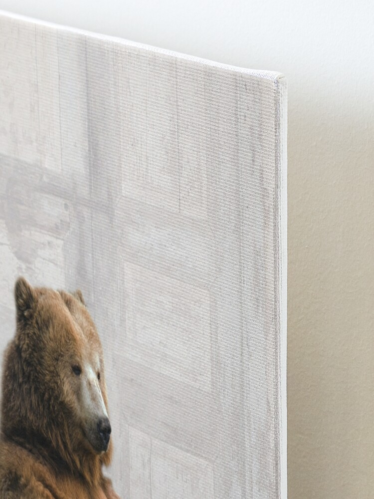 Alternate view of Bear in Bathtub Mounted Print
