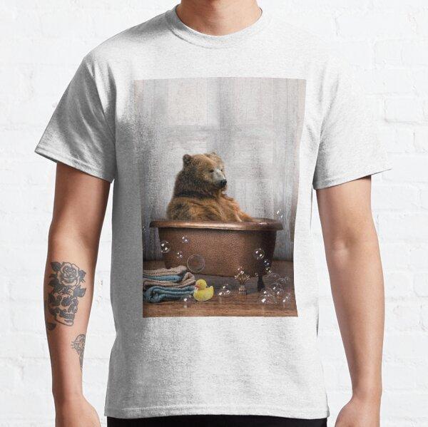 Bear in Bathtub Classic T-Shirt