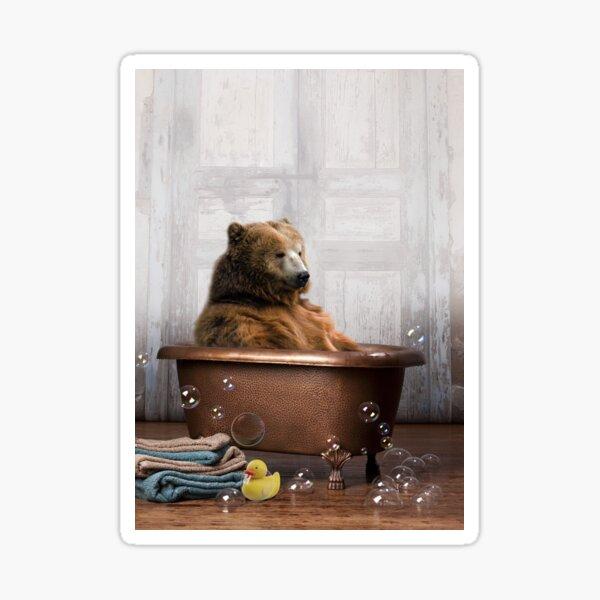 Bear in Bathtub Sticker