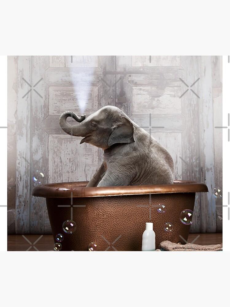 Elephant in Bathtub by snoopdoggydom