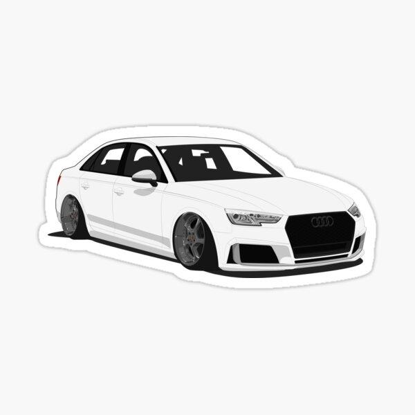 Audi A4 caído Pegatina