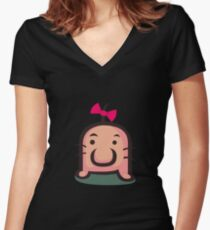 Mr. Saturn Women's Fitted V-Neck T-Shirt