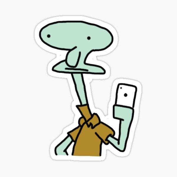 poorly drawn squidward Sticker