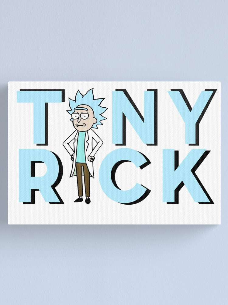 Alternate view of Tiny Rick !  Canvas Print