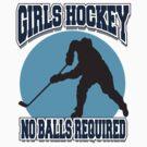 Girl's Hockey by SportsT-Shirts
