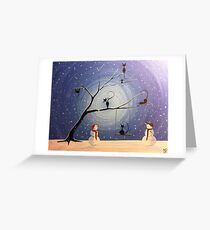 Cats in snow Greeting Card