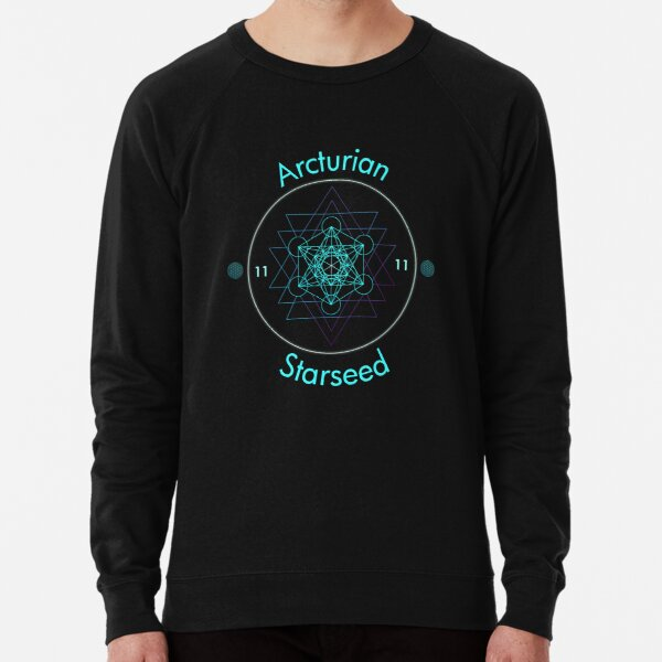 Arcturian Starseed Ascension  Lightweight Sweatshirt