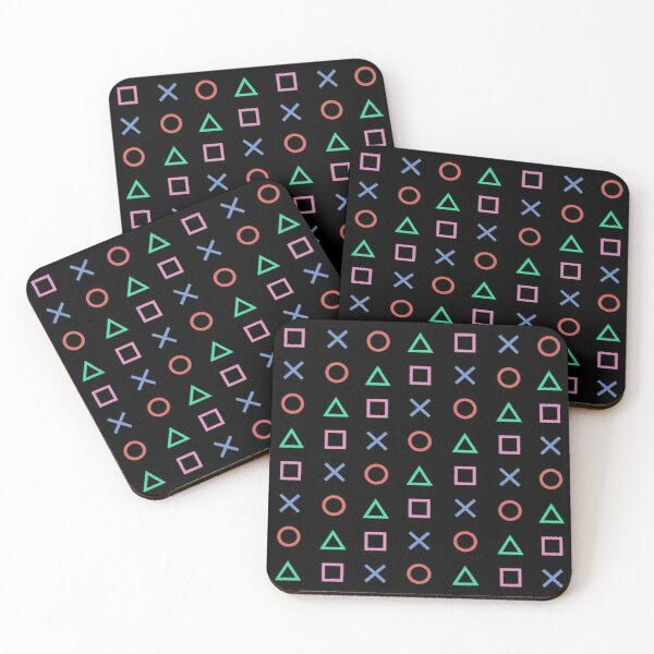 Classico Controller Buttons Icon Coasters (Set of 4)