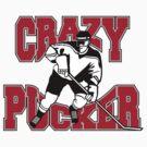 Crazy Hockey Player by SportsT-Shirts
