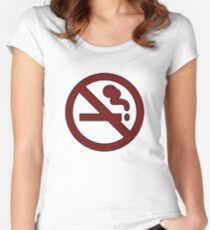 """Marceline's """"Don't Smoke"""" Shirt Women's Fitted Scoop T-Shirt"""