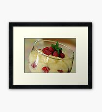 Creamy Pudding Framed Print