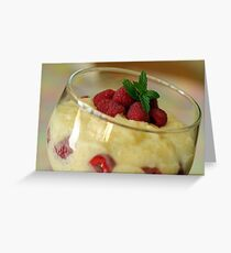 Creamy Pudding Greeting Card