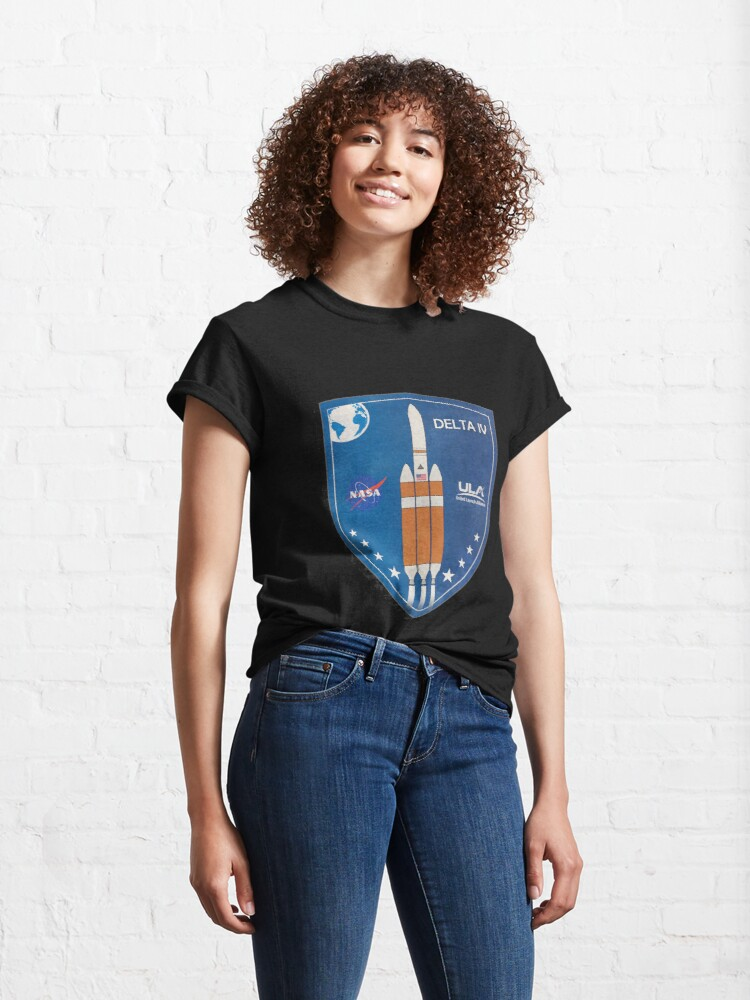 Alternate view of Delta IV Rocket Badge Classic T-Shirt