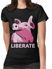 Liberate (Pig, No Background) Womens Fitted T-Shirt