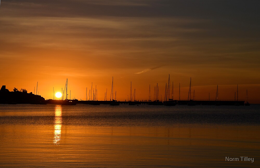 Mornington Pier at Sunset by Norm Tilley