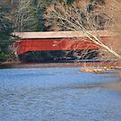 Side view of the Hillsgrove Covered Bridge by Penny Fawver