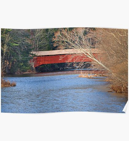 Side view of the Hillsgrove Covered Bridge Poster