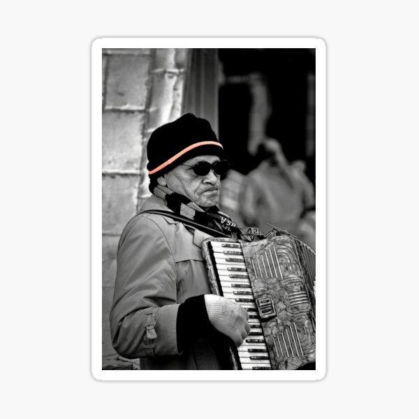 Street musician Sticker
