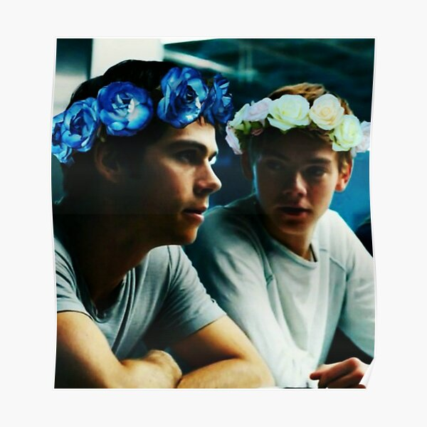 Newt and Thomas with Flowercrowns Poster