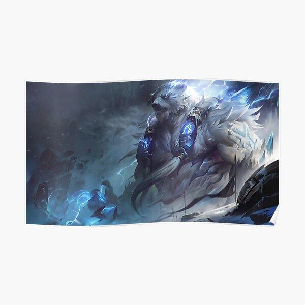 Volibear Rework Splash Art 8K - League of Legends Poster