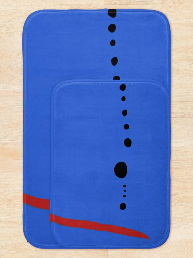 Alternate view of Bleu II - Joan Mirò Bath Mat