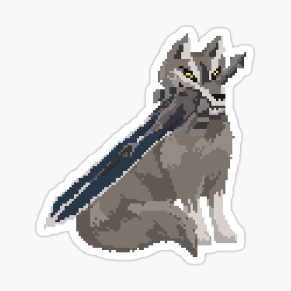 Pixel Souls - Sif, The Great Grey Wolf Sticker