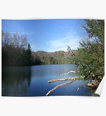 Beautiful West Virginia Mountain Lake Poster