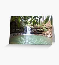 Rustic Appalachian Waterfall in West Virginia Greeting Card