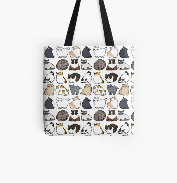 Cats Cats Cats All Over Print Tote Bag
