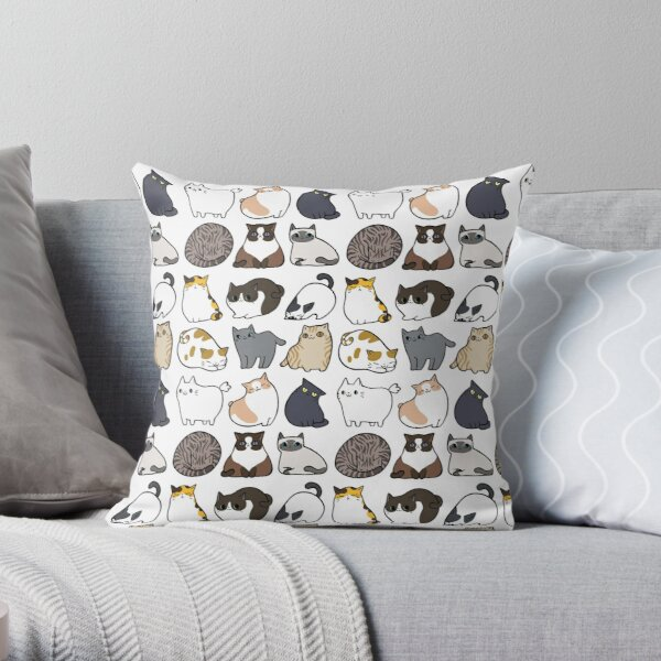 Cats Cats Cats Throw Pillow