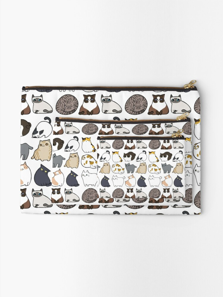 Alternate view of Cats Cats Cats Zipper Pouch