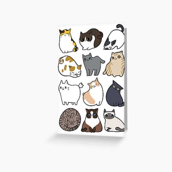 Cats Cats Cats Greeting Card