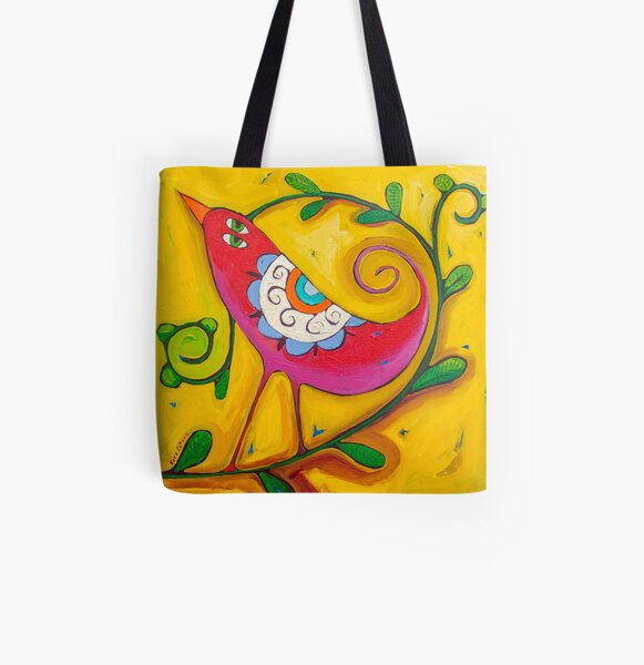 Sun on the Lovebird All Over Print Tote Bag