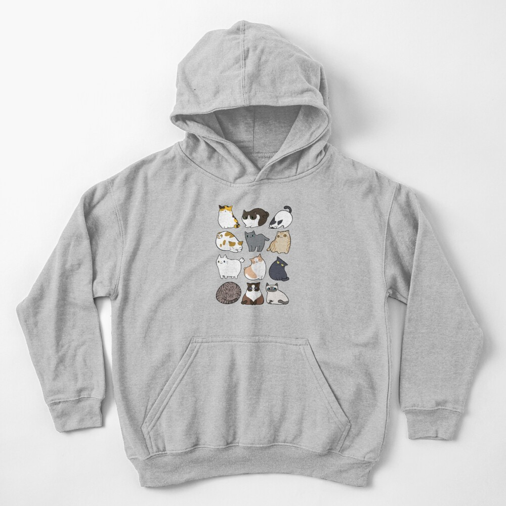 Cats Cats Cats Kids Pullover Hoodie