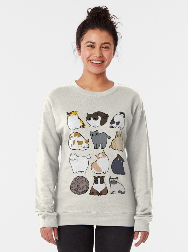Alternate view of Cats Cats Cats Pullover Sweatshirt
