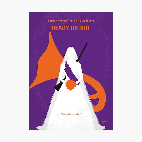 No1185 My Ready or Not minimal movie poster Photographic Print