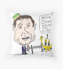 Viktor Orban political cartoon Throw Pillow