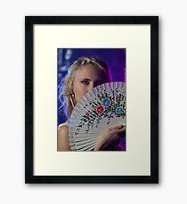 A fan of flowers Framed Print