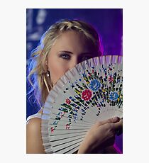 A fan of flowers Photographic Print