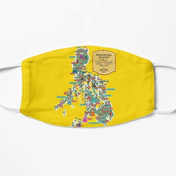 Philippine Festivals map illustrated by Robert Alejandro Mask