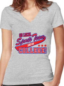 Go Local Sports Team Women's Fitted V-Neck T-Shirt