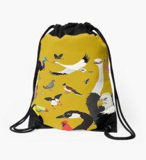I Am Thankful For Birds Drawstring Bag