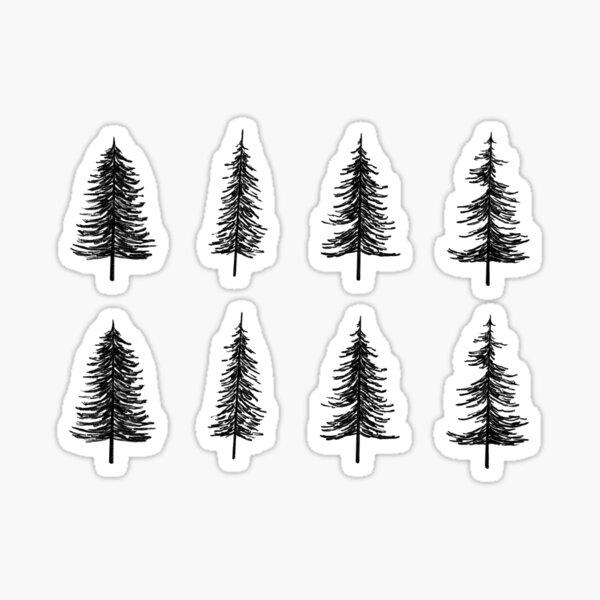Pine Tree Sticker Pack Sticker