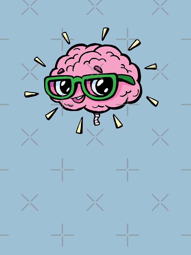 rose cute smart brain with glasses by duxpavlic