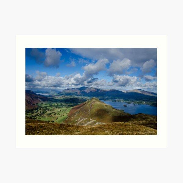 Derwent Water from Newlands Horseshoe, Lake District Art Print