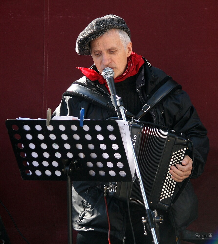 Christian, the accordion player by Segalili