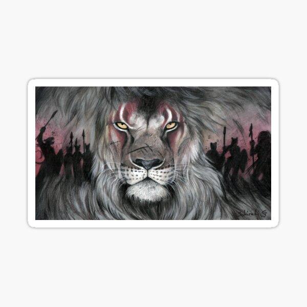 Warband - Löwe mit Gesichtsbemalung Sticker