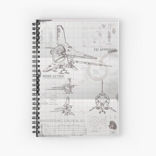 No Man's Sky Exotic Ship Blueprint Spiral Notebook